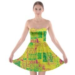 Abstract Art Strapless Bra Top Dress