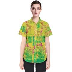 Abstract Art Women s Short Sleeve Shirt