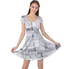 Abstract Art Cap Sleeve Dress