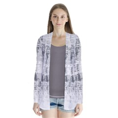 Abstract Art Drape Collar Cardigan