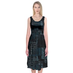 Abstract Art Midi Sleeveless Dress