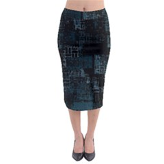 Abstract Art Midi Pencil Skirt