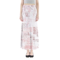 Abstract Art Full Length Maxi Skirt