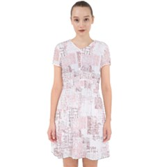 Abstract Art Adorable In Chiffon Dress