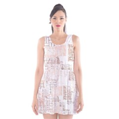 Abstract Art Scoop Neck Skater Dress