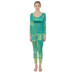 Abstract Art Long Sleeve Catsuit