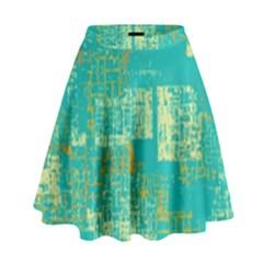 Abstract Art High Waist Skirt
