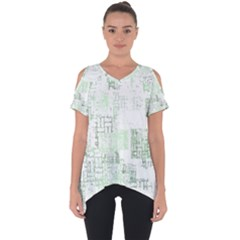 Abstract Art Cut Out Side Drop Tee