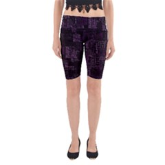 Abstract Art Yoga Cropped Leggings