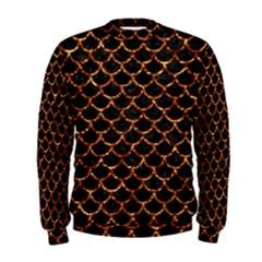 Scales1 Black Marble & Copper Foil Men s Sweatshirt
