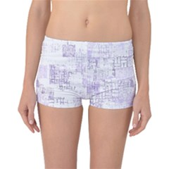 Abstract Art Boyleg Bikini Bottoms