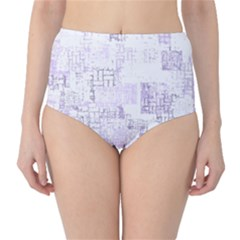 Abstract Art High Waist Bikini Bottoms