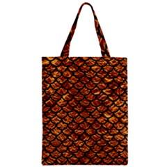 Scales1 Black Marble & Copper Foil (r) Zipper Classic Tote Bag