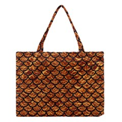 Scales1 Black Marble & Copper Foil (r) Medium Tote Bag