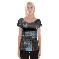 Abstract Art Cap Sleeve Tops
