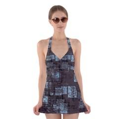 Abstract Art Halter Swimsuit Dress