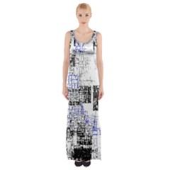 Abstract Art Maxi Thigh Split Dress