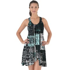 Abstract Art Show Some Back Chiffon Dress