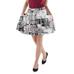 Abstract Art A Line Pocket Skirt