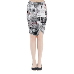 Abstract Art Midi Wrap Pencil Skirt