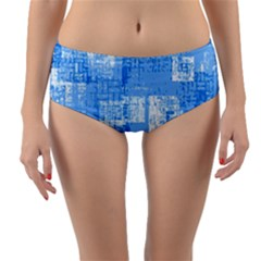 Abstract Art Reversible Mid Waist Bikini Bottoms