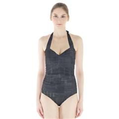 Abstract Art Halter Swimsuit