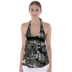 Abstract Art Babydoll Tankini Top