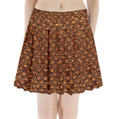 Scales2 Black Marble & Copper Foil (r) Pleated Mini Skirt