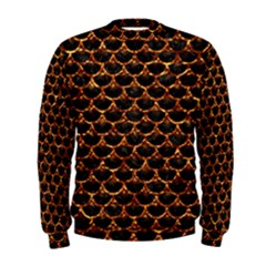 Scales3 Black Marble & Copper Foil Men s Sweatshirt