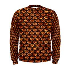 Scales3 Black Marble & Copper Foil (r) Men s Sweatshirt
