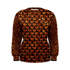 Scales3 Black Marble & Copper Foil (r) Women s Sweatshirt