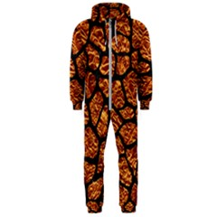 Skin1 Black Marble & Copper Foil Hooded Jumpsuit (men)