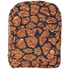 Skin1 Black Marble & Copper Foil Full Print Backpack