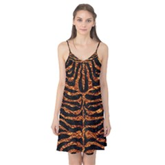 Skin2 Black Marble & Copper Foil Camis Nightgown