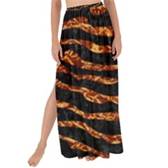 Skin2 Black Marble & Copper Foil Maxi Chiffon Tie Up Sarong