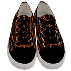 Skin2 Black Marble & Copper Foil Men s Low Top Canvas Sneakers