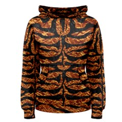 Skin2 Black Marble & Copper Foil (r) Women s Pullover Hoodie
