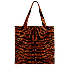 Skin2 Black Marble & Copper Foil (r) Zipper Grocery Tote Bag