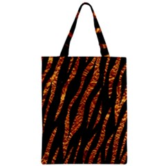 Skin3 Black Marble & Copper Foil Zipper Classic Tote Bag
