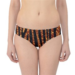 Skin4 Black Marble & Copper Foil Hipster Bikini Bottoms