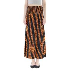 Skin4 Black Marble & Copper Foil Full Length Maxi Skirt