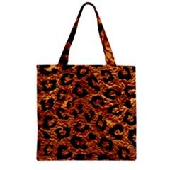 Skin5 Black Marble & Copper Foil Zipper Grocery Tote Bag