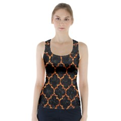 Tile1 Black Marble & Copper Foil Racer Back Sports Top