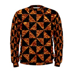 Triangle1 Black Marble & Copper Foil Men s Sweatshirt
