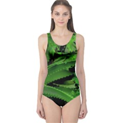 Vivid Tropical Design One Piece Swimsuit