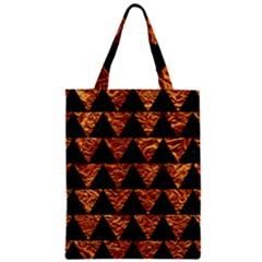Triangle2 Black Marble & Copper Foil Zipper Classic Tote Bag