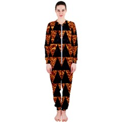 Triangle2 Black Marble & Copper Foil Onepiece Jumpsuit (ladies)