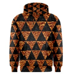 Triangle3 Black Marble & Copper Foil Men s Pullover Hoodie