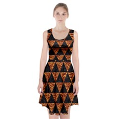 Triangle3 Black Marble & Copper Foil Racerback Midi Dress