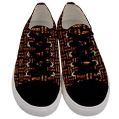 Woven1 Black Marble & Copper Foil Men s Low Top Canvas Sneakers